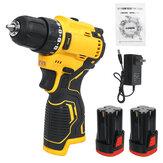 Drillpro 18V Sin escobillas Taladro atornillador eléctrico Inalámbrico Recargable Destornillador W / 1 o 2 Batería