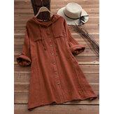 Jednokolorowa bluzka z długim rękawem i długim rękawem