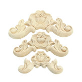 Floral Carved Woodcarving Decal Corner Applique Wooden Furniture Room Wall Decorations