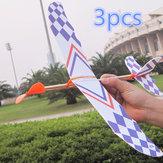 3 PCS de Borracha Elástica Banda Alimentado DIY Brinquedo Avião De Espuma Kit Modelo de Aeronave Brinquedo Educativo