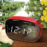 Loskii LED FM Radio Digital Wecker mit Sleep Timer Snooze Fuction Kompakt Digital Modern Design Tischuhr