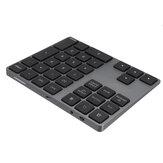 Tastiera in lega di alluminio ricaricabile USB a 32 tasti bluetooth 3.0 per PC Laptop telefono Oiffice