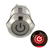 Excellway® 12V 4-pins led metalen drukknop Momentary Power Switch Waterdicht