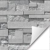 Papel de parede cinza adesivo Pano de parede Papel de parede autoadesivo em PVC impermeável retro tijolo Padrão Decoração de parede de pedra