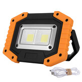 30W LED COB terbuka IP65 Waterproof Kerja Light Camping Emergency Lantern Lampu Sorot Senter