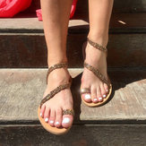 Large Size Colored Rhinestone Beach Flat Sandals