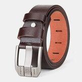 Masculino Couro Genuíno 110/115/120 / 125cm Quadrado Pin Fivela Selvagem Casual Jeans Ternos Couro Cinto