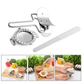 3pcs Stainless Steel Dumpling Mold Dough Presser Cutter Kitchen Baking Tools