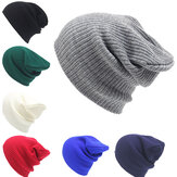 Invierno Casual Knitted Warm Skullies Gorros Sombreros High Elastic Men Mujer Hat