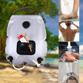 20L Outdoor Solar Hiking Camping Shower Bag Temperature Indicator Water Bags Heating Camping Shower Hydration Bag With Shower Head