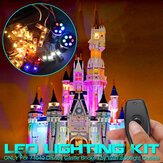 LED Light Lighting Kit ALLEEN voor LEGO 71040 Voor Disney Castle Met Spotlight Outlets Bricks Toy Afstandsbediening