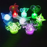 Acrylic Christmas Tree Apple Colorful Night Lights Christmas Party Decor Creative Gifts Toys