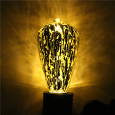 E27 ST64 5 W Fırtına Silvering Vintage Antik Edison Filament COB LED Ampul Işık Lamba 85-265 V