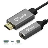 QGEEM QG-HD02 HDMI til Mini DisplayPort-adapteradapterkabel 4K x 2K HDMI til Mini DP-videokabel til digitalt tv / LCD-display Bærbar / Projektor / TV-boks