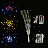 Dual Powered USB Batterij 150 LED Starburst String Fairy Light Sliver Wire Bruiloft Home Decor