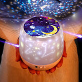 Rotation LED Night Light Ceiling Projector Kids Star Sky Moon Baby Bedroom Atmosphere Making