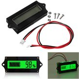 3pcs GY-6 Y6 12V 24V 36V 48V Lead Acid Battery 2-15S Lithium Battery Universal Adjustable 6-65V Green Screen Waterproof LCD Capacity Display Board Indicator Digital Voltmeter