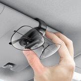 Baseus Car Glasses Case Auto Sun Visor Glasses Holder Sunglasses Clip Card Holder Pen Case Clip Box Universal Accessories