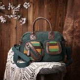 المرأةالوطنيةحقيبةاليدالكتانحقيبة كروسبودي اليدوية