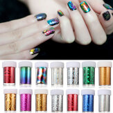 1,2 Meter Acryl Multicolor Nagel Kunst Overdracht Folie Strip Decoratie Holo Starry Sky DIY Design