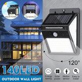 Capteur de mouvement LED Lampe solaire murale à induction solaire étanche pour jardin extérieur