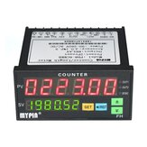 Multifunctionele dubbele LED-display Digitale teller 90 ~ 265V AC / DC lengtemeter met 2 relaisuitgang en puls PNP NPN