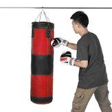 60/80/100/120 سم جلد ملاكمة تدريب الضرب حقيبة معلقة فارغة فارغة كيس الرمل الهدف الملاكمة