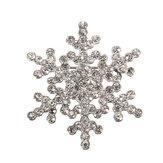 Copo de nieve de cristal de diamante de imitación de aleación broche para las mujeres
