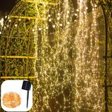 Solar Powered 8 Modes Waterpoof Warm White 200LED Tree Vine Copper Wire String Fairy Holiday Light