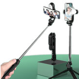 2 en 1 Selfie Sticks trípode Soporte ajustable Control remoto Escritorio extensible Stand Holder luz LED bluetooth Selfie Stick para iPhone Xiaomi Huawei