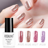 8 Cores Rose Gold Unhas Gel Polonês Brilho Soak-off UV Gel