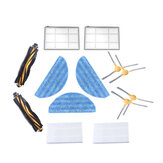 13pcs Replacements for LIECTROUX C30B Vacuum Cleaner Parts Accessories Main Brushes*2 Side Brushes*4 HEPA Filters*2 Primary Filters*2 Mop Clothes*3
