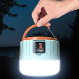 IPRee® LED Solar Luz de acampamento Controle Remoto Lâmpada de trabalho recarregável de 3 modos USB IP6 Banco de potência à prova de água Barraca ao ar livre Lanterna suspensa