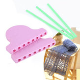 Scarf Lace Knitting Loom DIY Knitting Work Flower Bowknot Tassel Weaving Tools