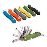 AOTDDOR® الألومنيوم مزدوجة فتح مفتاح كليب DIY سلسلة المفاتيح التخزين EDC أداة