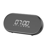 Baseus E09 Wireless bluetooth Speaker HiFi Dual Units Dual Alarm Clock LED Display Light FM Radio TF Card Speaker with Mic