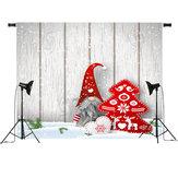 Fotografie-Studio-Stützen-Hintergrund der Karikatur-Weihnachtsmann-Weihnachtsbrett-Weihnachtshintergrund-7x5FT