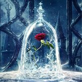DIY 5D Diamond Painting Red Rose Art Craft Kit Handmade Wall Decorations Gifts for Kids Adult