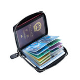 RFID Antimagnetic Genuine Leather 40 Card Slots Card Holder Sac de stockage de passeport