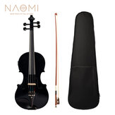 NAOMI 4/4 Acoustic Electric Violin Fiddle EQ Violin With Ebony Accessories