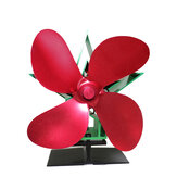 YL1001 Christmas Style 4-Blade Heat Powered Stove Fan Fireplace Log Wood Burner Eco Fan 55°C-350°C