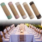 5 Couleurs Jute Toile De Jute Rustique Dentelle De Table Chemin De Noce Décorations De Banquet