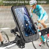 Bakeey Universal Multifuncional 360 ° Rotação Livre Ajuste Magnético Retrátil Suporte para Telefone de Motocicleta Suporte de Suporte de Bicicleta Suporte de Telefone Móvel À Prova D 'Água