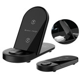 Bakeey X416 15W 3 in 1 Wireless Charger Fast Charging Stand Holder Dock Station for Apple Watch for Airpods for iPhone 12/ 12 Mini/ 12 Pro Max for Samsung Galaxy Note S20 ultra Huawei Mate40 OnePlus 8 Pro