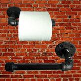 خط أنابيب الصناعية خمر ورقة منشفة رف الحمام جدار جبل حامل ورق التواليت