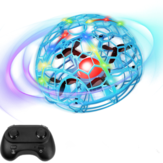 D3 Colorful Light Gesture Sensing With Altitude Hold Mode Intelligent Induction Flying Ball RC Drone Quadcopter