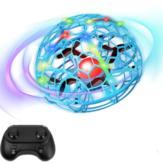 D3 Colorful Yükseklik Tutma Modu Ile Işık Jest Algılama Akıllı Indüksiyon Uçan Top RC Drone Quadcopter
