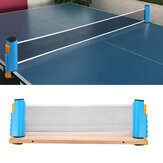14x19cm Table Tennis Net Retractable Replacement Net Adjustable Rack with Net Clip Insert