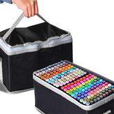 30/40/60/80 Renkler Marker Set Çift Kafa Yağlı Alkollü Graffiti Eskiz Marker Fırça Kalem Çizim Sanat Malzemeleri