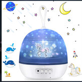 Romântico LED Cosmos Ocean Starry Star Night Light Projector Night Light USB Presente